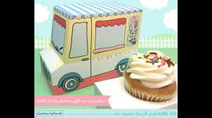 100 Ice Cream Truck Party Make An Ice Cream Truck Cupcake Box Party Favor Gift Box YouTube