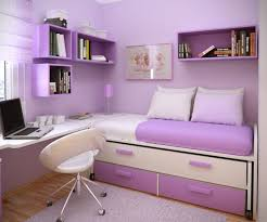 InteriorAmusing Small Purple Teenage Girls Bedroom Interior Design With White Bedding And Painted