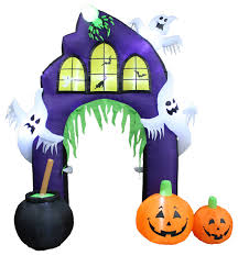 Halloween Airblown Inflatables Uk by Halloween Inflatable Castle Arch With Pumpkin U0026 Ghost 9
