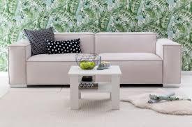 wohnling couchtisch weiß 60x42x60 cm design holztisch mit ablage wohnzimmertisch
