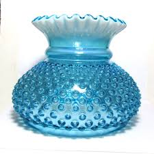 Fenton Burmese Fairy Lamp by Fenton Blue Opalescent Hobnail Art Glass Gone With The Wind