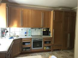 nolte küchenzeile küche l form braun holz miele neff aeg