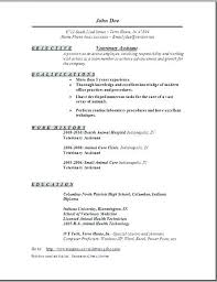 Optical Assistant Training Lab Technician Resume Objective Veterinary Occupational Examples Samples Free