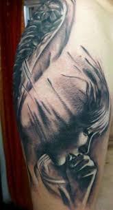 Guardian Angel Face Tattoo