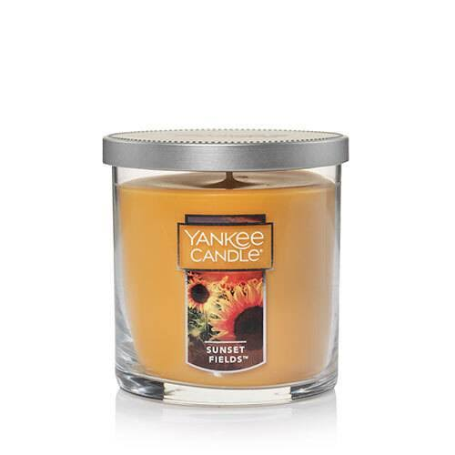 Yankee Candle Sunset Fields Small Tumbler Candle, Fresh Scent