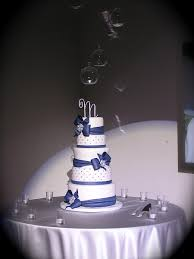 I love how this cake turned out The bride brought me a picture of this design done in black and white but wanted it done in her colors of Navy blue