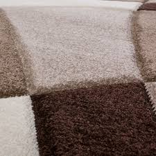 moderner teppich wohnzimmer abstrakt konturenschnitt in