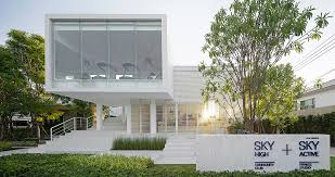 And Economical Materials Which Are Easily Found In Thailand Such As Concrete Terrazzo Floor Aluminium Window But White Stripes Facade