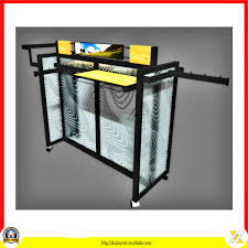 Movable Middle Island T Shirt Display Rack Pop Up Stand