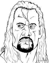 Pin WWE Clipart Colouring Page 11