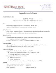 Resume Samples For Nurses Pdf