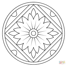 Click The Mandala With Floral Pattern Coloring Pages
