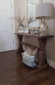 50 Beautiful Rustic Home Decor Project Ideas You Can Easily DIY Farmhouse Entryway Table By ModernRefinement On Etsy