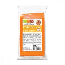 pâte à sucre orange clair aromatisé vanille 250g