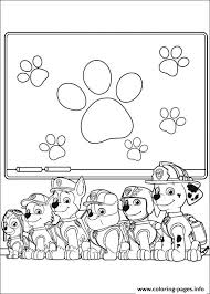 Print Paw Patrol School Learning Stuff Coloring Pages