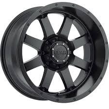 100 Gear Truck Wheels 2 New 17X9 Alloy 726B Big Block Black Rims 18 8X650 EBay