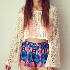 Cute Tumblr Summer Outfits Shorts Colorful Blouse Shoes Tank Top Sweater Knitted