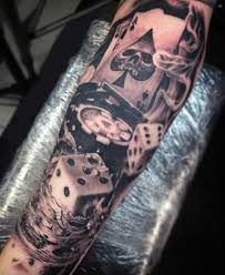 Mens Lucky Dice Tattoo