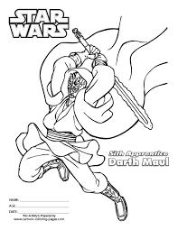 Star Wars Coloring Sheets Free Darth Maul