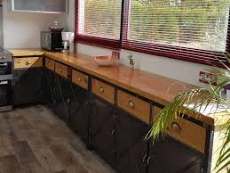 cuisine industrielle cuisine de style industriel acier et bois massif m déco industriel