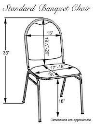 Standard Banquet Chair Dimensions