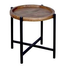 soma beistelltisch couchtisch wohnzimmer tisch rund omaha metall gestell altsilber oder schwarz bxhxl 46 x 45 x 46 cm braun bassano