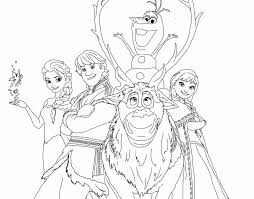 Disney Frozen Coloring Pages Printable Free Books Happy Family Page Kids