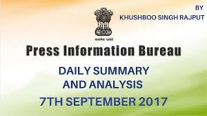 information bureau pib analysis 7th september 2017 press information bureau