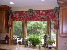 Kitchen Curtain Valance Styles by Kitchen Curtain Red Trends Curtains And Valances Images Albgood Com