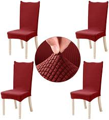 JIAN YA NA Stretch Dining Room Chair Covers - Jacquard Removable & Washable  Chairs Slipcovers Protector For Hotel, Wedding, Party, Ceremony, Christmas  ... Amazoncom 6 Pcs Santa Claus Chair Cover Christmas Dinner Argstar Wine Red Spandex Slipcover Fniture Protector Your Covers Stretch 8 Ft Rectangular Table 96 Length X 30 Width Height Fitted Tablecloth For Standard Banquet And House 20 Hat Set Everdragon Back Slipcovers Decoration Pcs Ding Room Holiday Decorations Obstal 10 Pcs Living Universal Wedding Party Yellow Xxxl Size Bean Bag Only Without Deisy Dee Low Short Bar Stool C114 Red With Green Trim Momentum Lovewe 6pcs Nordmiex Spendex 4 Pack Removable Wrinkle Stain Resistant Cushion Of Clause Kitchen Cap Sets Xmas Dning