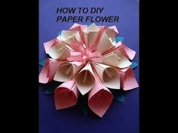 Craft Work Using Paper Flower Kanzashi How To Diy Crafts Wall Decor