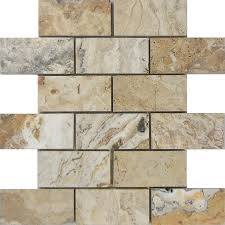 Smart Tiles Mosaik Light Beige by Shop Allen Roth Beige Honed Natural Stone Mosaic Subway Indoor