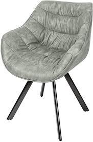riess ambiente design stuhl the comfort antik hellgrau gepolstert metall esszimmer sessel polsterstuhl bürosessel mit armlehne