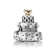 Pandora wedding cake charm idea in 2017