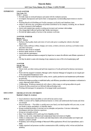 Janitorial Resume Sample Best Janitor Job Description With Bilingual Rh Barcelonajerseys Net Housekeeping Manager