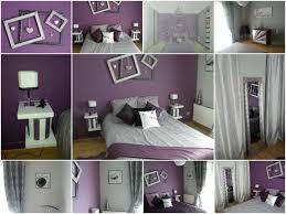 chambre parentale grise photos d une chambre parentale relookée en gris et violet