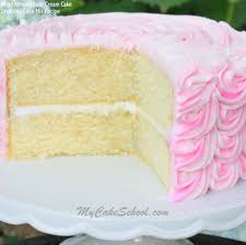 White Almond Sour Cream Cake Doctored Cake Mix