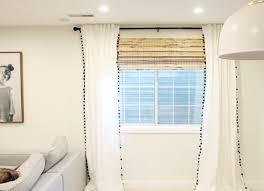 100 plum and bow blackout pom pom curtains i bocconcini di