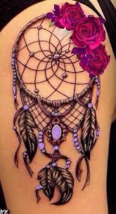 Left Hip Unique Rose Tattoo