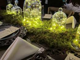 Hunter Valley Farms Knoxville Bridal Show Cloche With String Lights Centerpiece Wedding Winter DecorationsLight