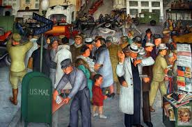 coit tower murals editorial image image 18264415