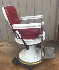 Theo A Kochs Barber Chair Footrest by Vintage Theo A Kochs Barber Chair Salon Tattoo Chair Round Seat