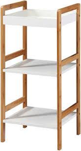 badregal spa packung ablage aus weiss lackiertem mdf beine aus robusten bambus