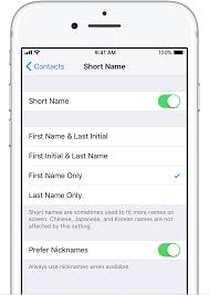 About Short Name on iPhone iPad and iPod touch Apple Support