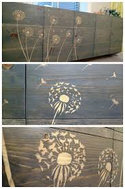 This Is An Art Project However I Think That Maybe The Could Be Altered For Back Fence A Yard Use Wood Glue And Stencil To Block