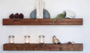 astounding ideas distressed wood floating shelves creative design