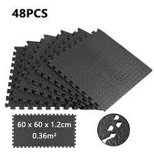 puzzlematte 48er set bodenschutzmatte teppich look schwarz unterlegmatte schaumstoff bodenmatte