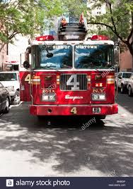 100 New York Fire Trucks NY Department FDNY Engine Company 4 Fire Truck Parked On 51st