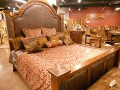Durango Bed With Honey Stain And Black Glaze