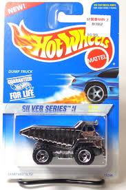 100 Hot Wheels Truck 1996 420 Silver Series II Dump With Chrome